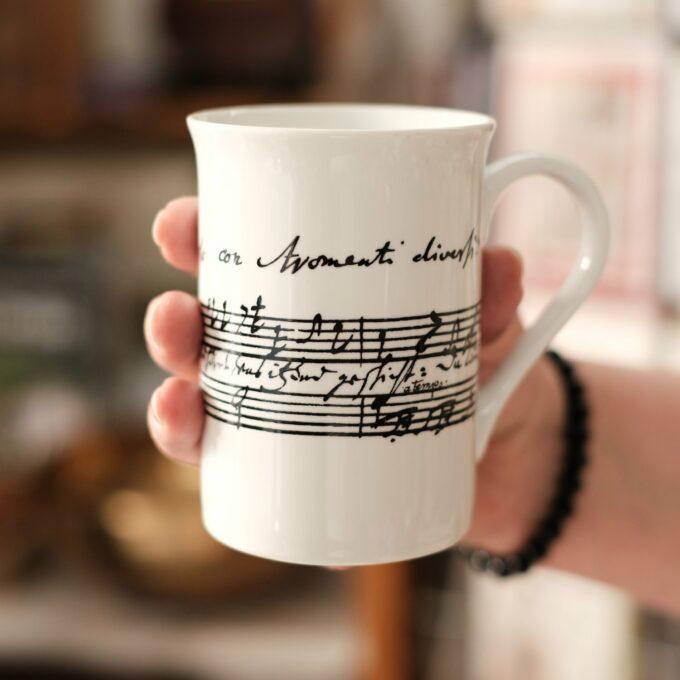 Musik Tasse Becher Noten Bach Kaffeekantate