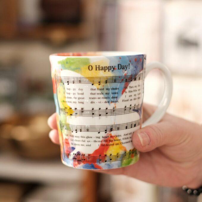 Musik Tasse Becher Noten Happy Day