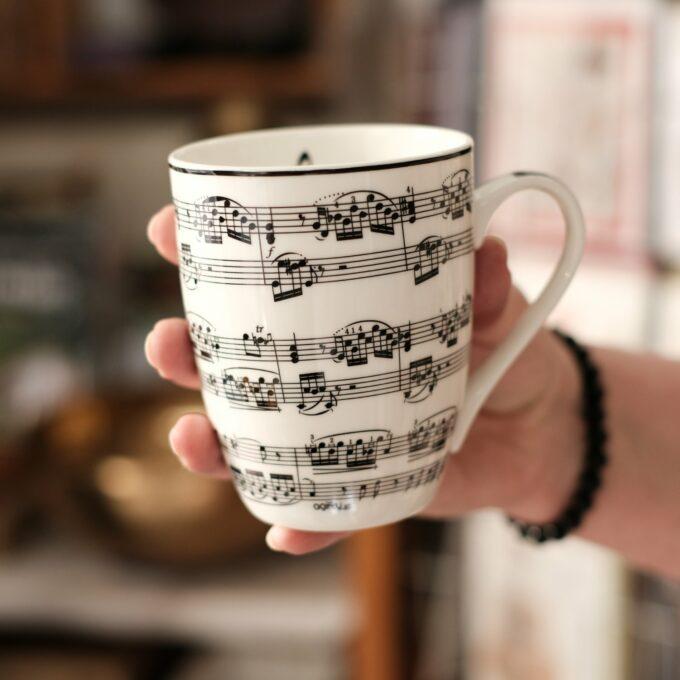 Musik Tasse Becher Noten Mug
