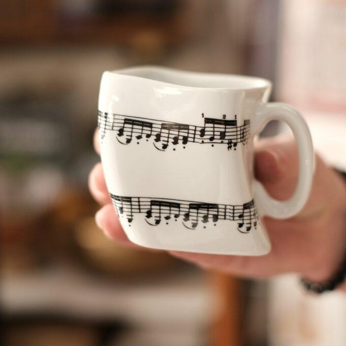 Musik Tasse Becher Noten eckig
