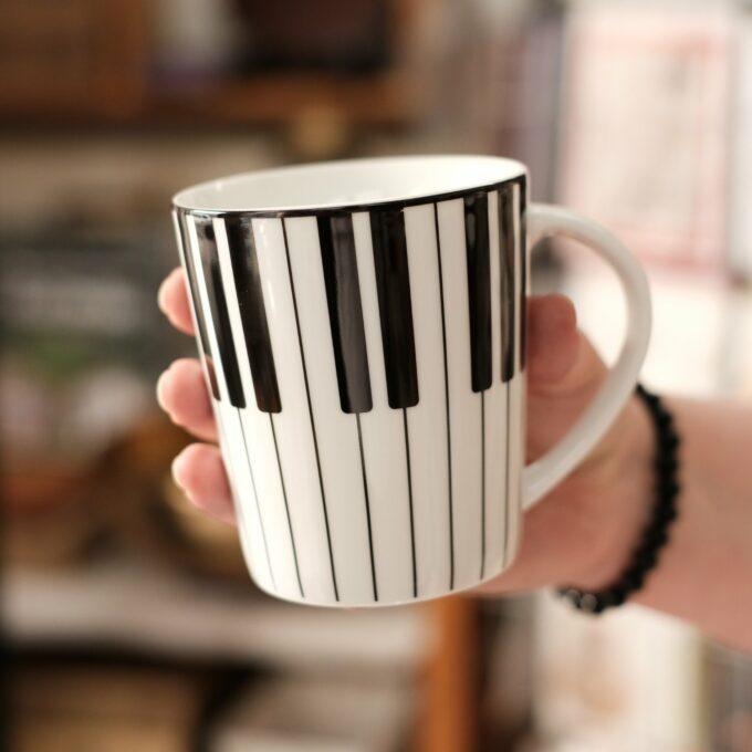 Musik Tasse Becher Tastatur