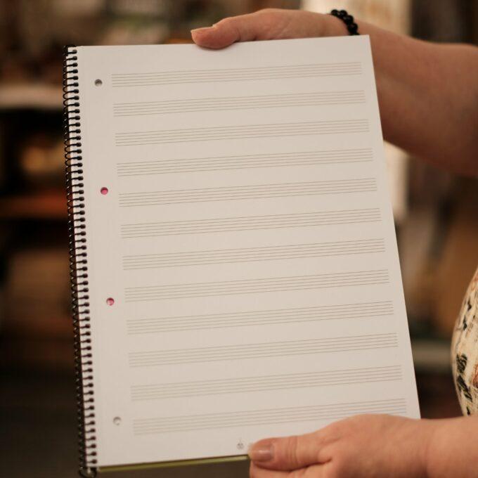 Notenblock Notenpapier Collegeblock