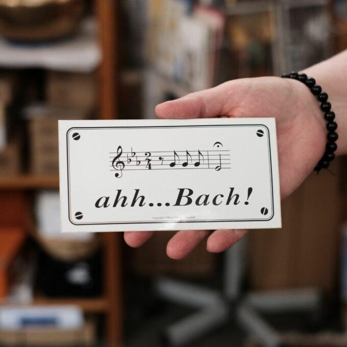 Musiksticker Aufkleber Bach